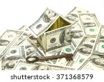 us dollar banknotes on display... | Shutterstock . vector #371368579