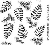 Pine Cones Seamless Pattern....
