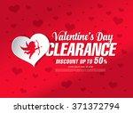 valentine's day sale banner | Shutterstock .eps vector #371372794