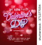 valentine's day party flyer... | Shutterstock .eps vector #371377054