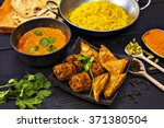 indian pilau rice in balti dish ... | Shutterstock . vector #371380504