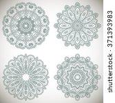 set of mandalas coloring... | Shutterstock .eps vector #371393983