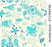 sea adventure. seamless pattern | Shutterstock .eps vector #371396938