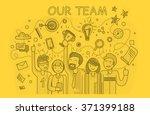 our success team linear design. ... | Shutterstock .eps vector #371399188