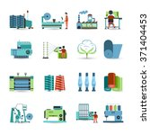 textile manufacturing process... | Shutterstock .eps vector #371404453