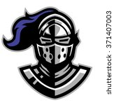 knight helmet mascot | Shutterstock .eps vector #371407003