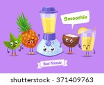 healthy breakfast. funny... | Shutterstock .eps vector #371409763