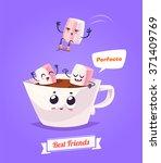 healthy breakfast. funny... | Shutterstock .eps vector #371409769