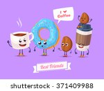 healthy breakfast. funny... | Shutterstock .eps vector #371409988