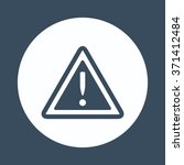 vector attention sign with... | Shutterstock .eps vector #371412484