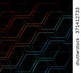 abstract colorful hexagons... | Shutterstock . vector #371412733