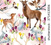 Spring Forest Seamless Pattern...