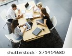 teamwork in the office | Shutterstock . vector #371414680
