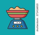cooking pot vector icon | Shutterstock .eps vector #371416810
