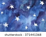 Watercolor Background Of Night...