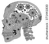 zentangle stylized black human...   Shutterstock .eps vector #371441830