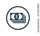 vector dollar pack icon | Shutterstock .eps vector #371441863