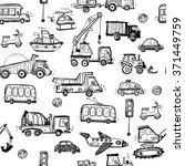 baby cars seamless pattern.... | Shutterstock .eps vector #371449759