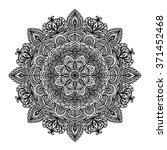 indian circular pattern mandala ... | Shutterstock .eps vector #371452468