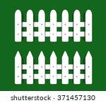 fence white front garden... | Shutterstock .eps vector #371457130
