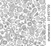 beach and sea doodles  vector... | Shutterstock .eps vector #371457730