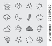 weather line icon | Shutterstock .eps vector #371459380