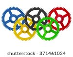 olympic games logo made with... | Shutterstock . vector #371461024