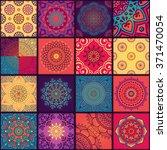 seamless pattern. vintage... | Shutterstock .eps vector #371470054