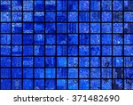 bright abstract mosaic blue... | Shutterstock . vector #371482690