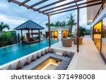 outside loft villa view at night | Shutterstock . vector #371498008