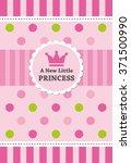 baby girl shower card. vector... | Shutterstock .eps vector #371500990