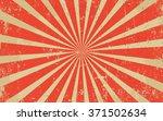 vintage grunge red radial lines ... | Shutterstock .eps vector #371502634