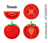 red tomato  whole  cross... | Shutterstock .eps vector #371504074