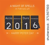 harry potter day. background... | Shutterstock .eps vector #371507503