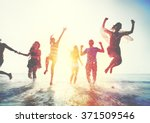friendship freedom beach summer ... | Shutterstock . vector #371509546