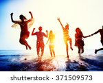 friendship freedom beach summer ... | Shutterstock . vector #371509573