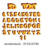 vector set of 3d comic book... | Shutterstock .eps vector #371513740