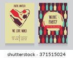 invitation for wine party  can... | Shutterstock .eps vector #371515024