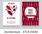 invitation for wine party  can... | Shutterstock .eps vector #371515030