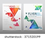 business brochure flyer design... | Shutterstock .eps vector #371520199