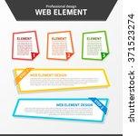 web element design | Shutterstock .eps vector #371523274