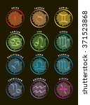 zodiac signs   twelve astrology ... | Shutterstock .eps vector #371523868
