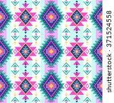 neon multicolor tribal navajo... | Shutterstock .eps vector #371524558