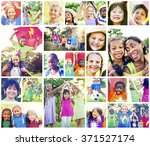 children family enjoyment... | Shutterstock . vector #371527174