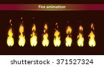 fire animation sprites  vector... | Shutterstock .eps vector #371527324