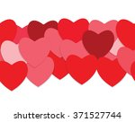 seamless love background with... | Shutterstock .eps vector #371527744