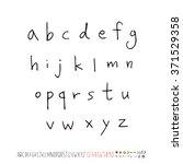 alphabet   number   handwriting ... | Shutterstock .eps vector #371529358