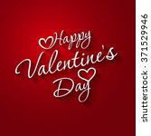 happy valentines day hand...   Shutterstock .eps vector #371529946
