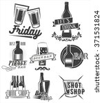 friday is time to drink. vector ... | Shutterstock .eps vector #371531824