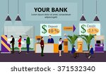 horizontal vector banner with... | Shutterstock .eps vector #371532340